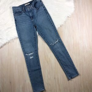 Levi's Blue 311 Shaping Skinny Distressed Jeans 28